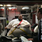600 Pound drug dealer sentenced from the back of an ambulance because he was too big to walk into the courtroom
