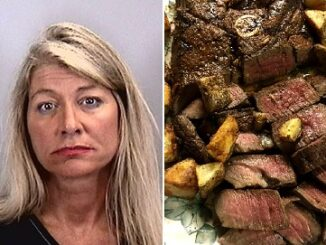 Women arrested after Punching her boyfriend for the way he cuts his meat and potatoes.