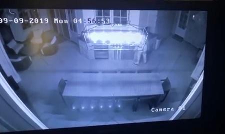Surveillance Camera catches Intruder At Kylie Jenner's Home