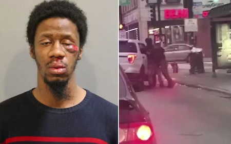 Officer body slams man he clams spit on him...Under Investigation.