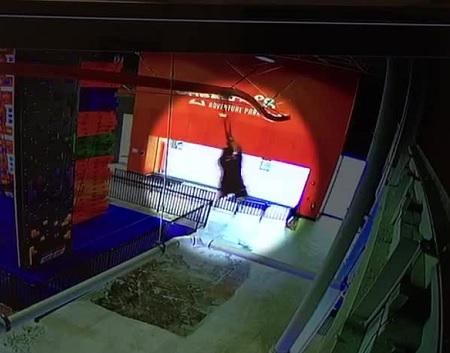 Video released Of child falling from zip line at adventure park, family sues.