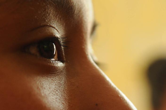 Portrait of a girl in Guatemala.