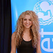 Shakira at UN Headquarters