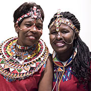 Samburu activists Jane Meriwas and Jacinta Silakan