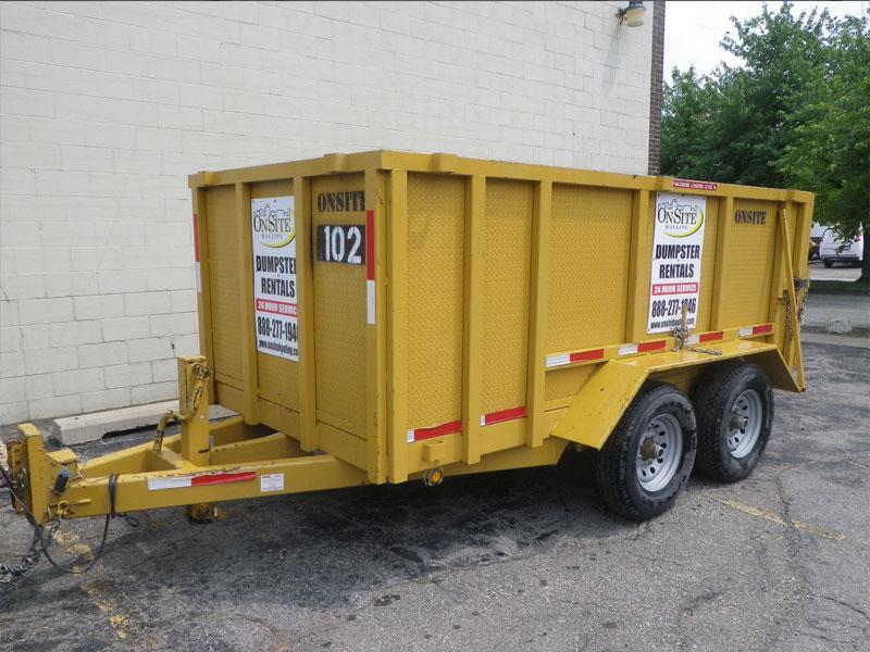 Dumpster Rental, Rubber Wheel Dumpster, Michigan Property Services dumpster Dumpster Service 10yd