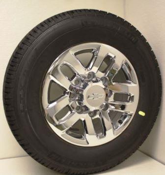 Chevy 2500 HD Chrome 18 Inch Wheels
