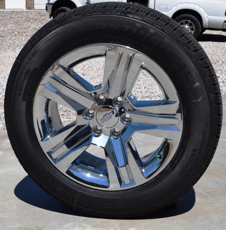 chevy 20 inch lchrome clad ltz wheels tires