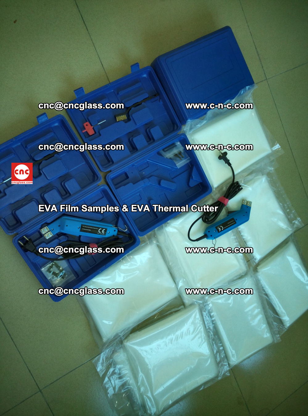 EVAFORCE SUPER CLEAR EVA Film Samples and EVA Thermal Cutter (15)