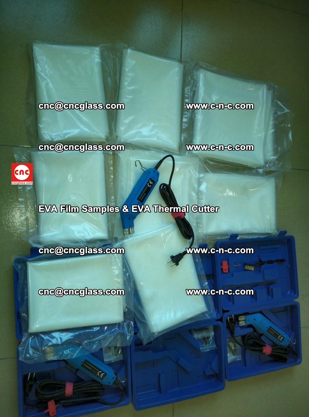 EVAFORCE SUPER CLEAR EVA Film Samples and EVA Thermal Cutter (4)