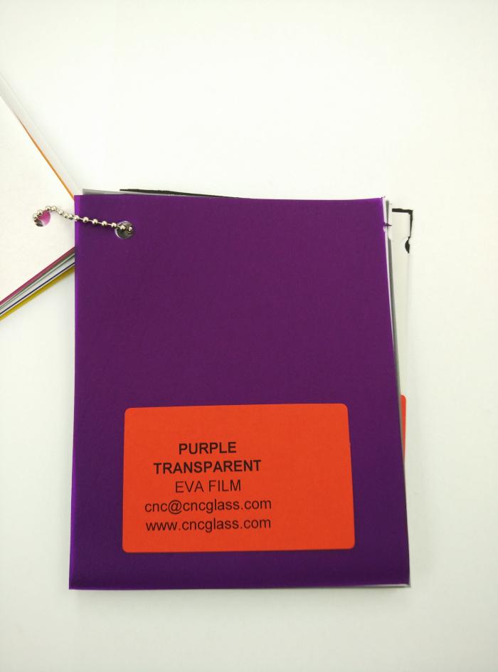 Purple Transparent Ethylene Vinyl Acetate Copolymer EVA interlayer film for laminated glass safety glazing (10)