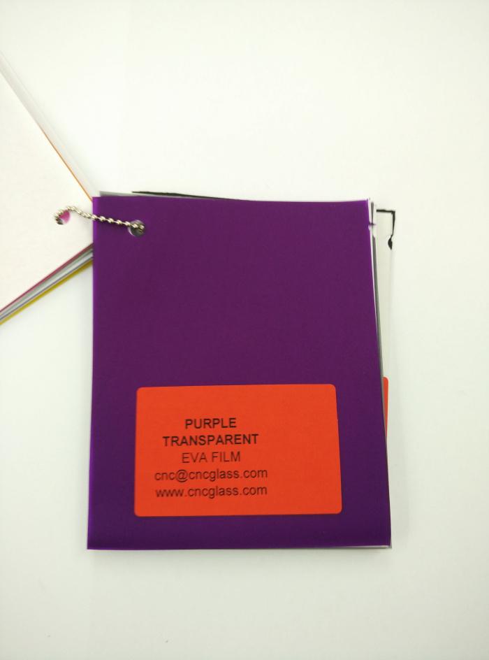 Purple Transparent Ethylene Vinyl Acetate Copolymer EVA interlayer film for laminated glass safety glazing (11)