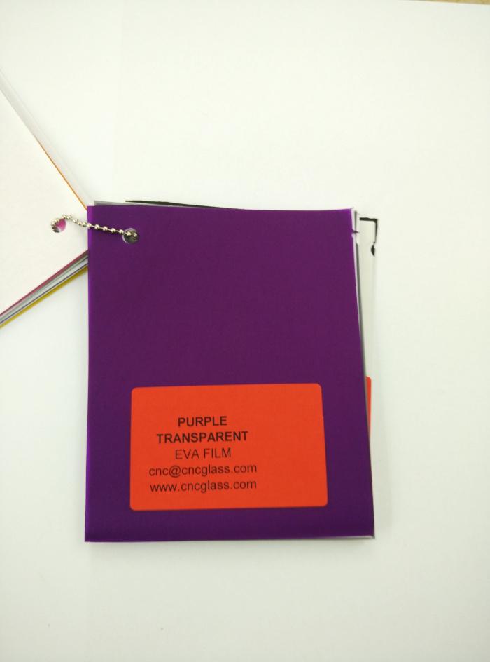 Purple Transparent Ethylene Vinyl Acetate Copolymer EVA interlayer film for laminated glass safety glazing (12)