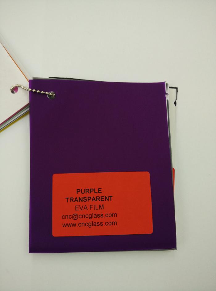 Purple Transparent Ethylene Vinyl Acetate Copolymer EVA interlayer film for laminated glass safety glazing (14)