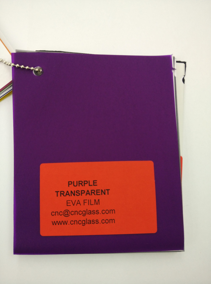 Purple Transparent Ethylene Vinyl Acetate Copolymer EVA interlayer film for laminated glass safety glazing (17)