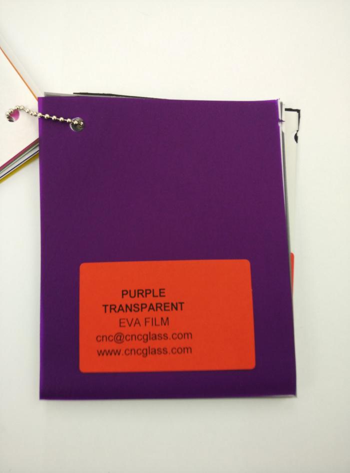 Purple Transparent Ethylene Vinyl Acetate Copolymer EVA interlayer film for laminated glass safety glazing (18)