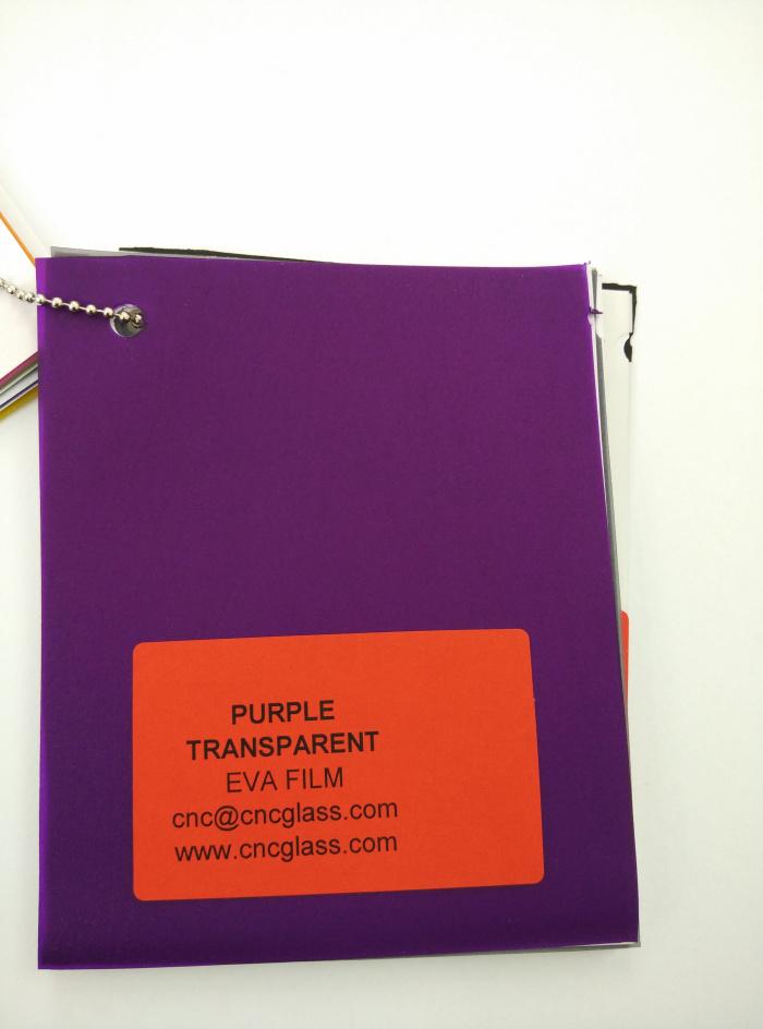 Purple Transparent Ethylene Vinyl Acetate Copolymer EVA interlayer film for laminated glass safety glazing (2)