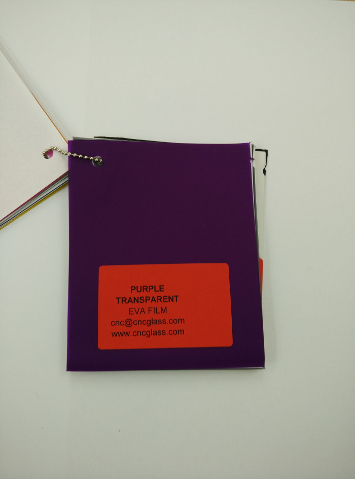 Purple Transparent Ethylene Vinyl Acetate Copolymer EVA interlayer film for laminated glass safety glazing (20)