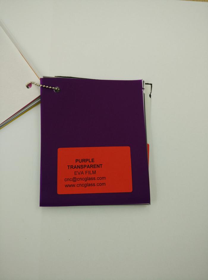 Purple Transparent Ethylene Vinyl Acetate Copolymer EVA interlayer film for laminated glass safety glazing (21)