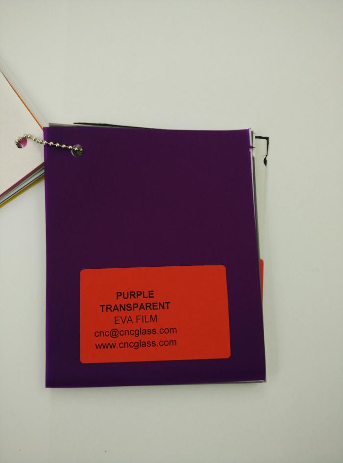 Purple Transparent Ethylene Vinyl Acetate Copolymer EVA interlayer film for laminated glass safety glazing (23)