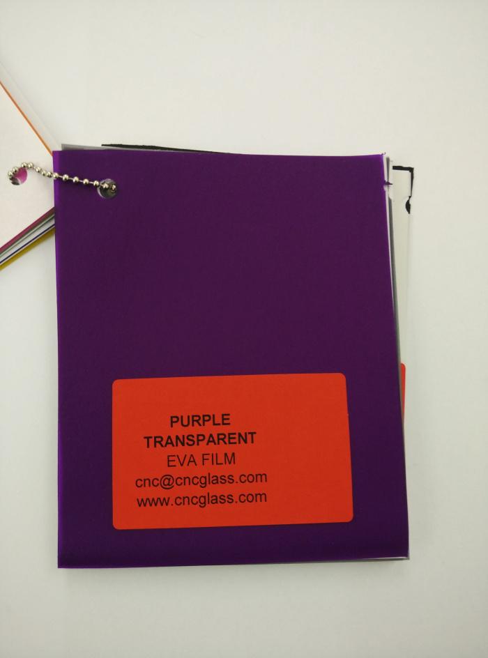 Purple Transparent Ethylene Vinyl Acetate Copolymer EVA interlayer film for laminated glass safety glazing (24)