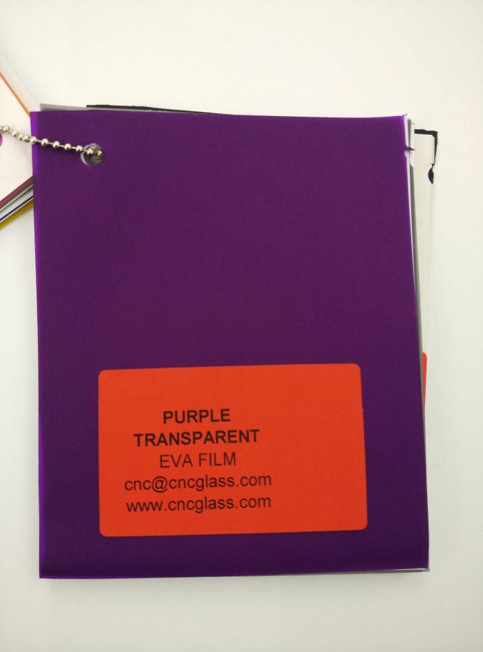 Purple Transparent Ethylene Vinyl Acetate Copolymer EVA interlayer film for laminated glass safety glazing (26)