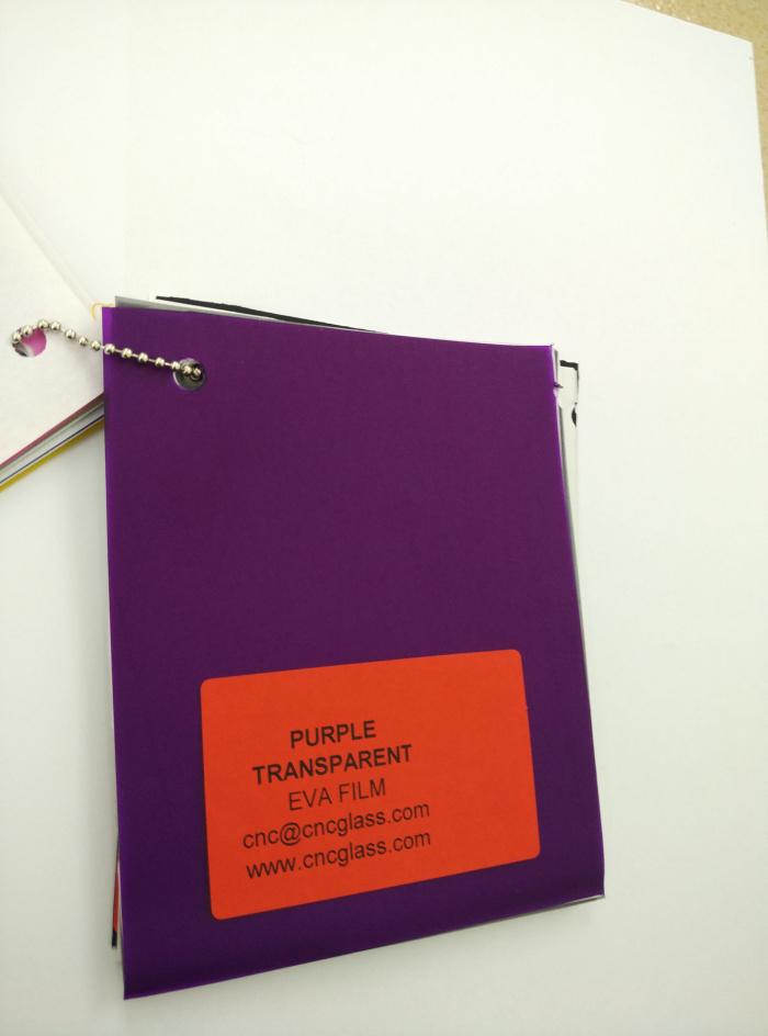 Purple Transparent Ethylene Vinyl Acetate Copolymer EVA interlayer film for laminated glass safety glazing (27)