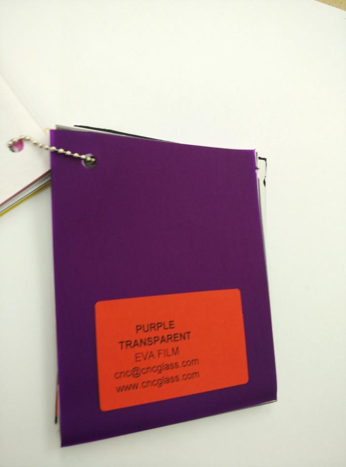 Purple Transparent Ethylene Vinyl Acetate Copolymer EVA interlayer film for laminated glass safety glazing (28)
