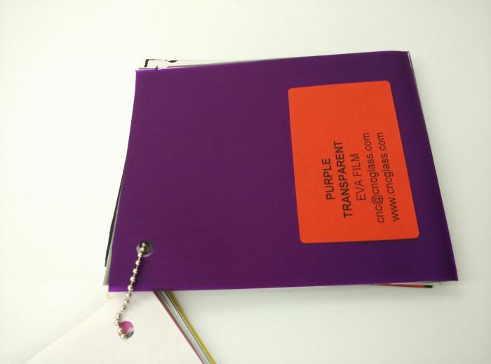 Purple Transparent Ethylene Vinyl Acetate Copolymer EVA interlayer film for laminated glass safety glazing (29)