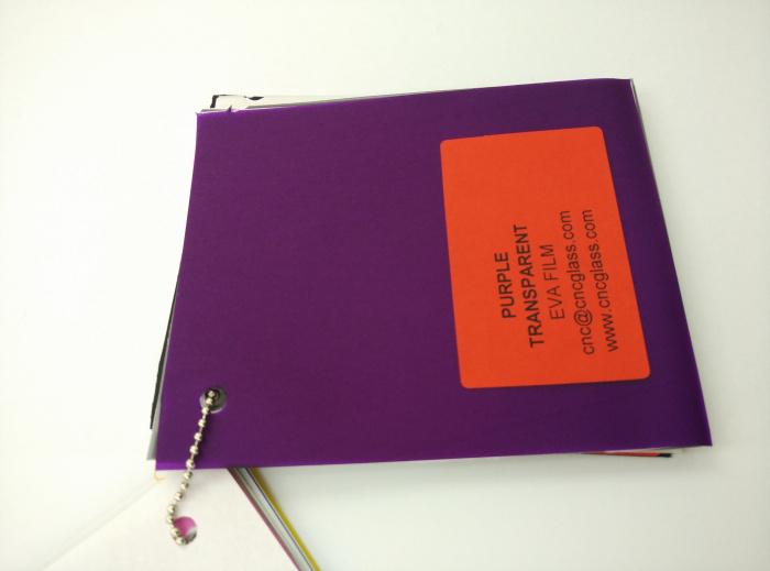 Purple Transparent Ethylene Vinyl Acetate Copolymer EVA interlayer film for laminated glass safety glazing (30)