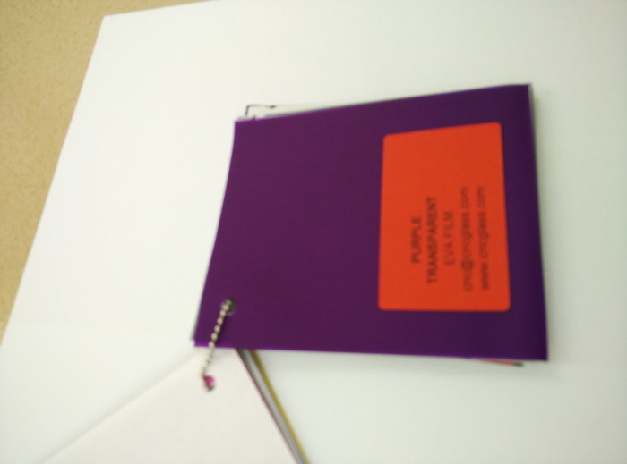 Purple Transparent Ethylene Vinyl Acetate Copolymer EVA interlayer film for laminated glass safety glazing (33)
