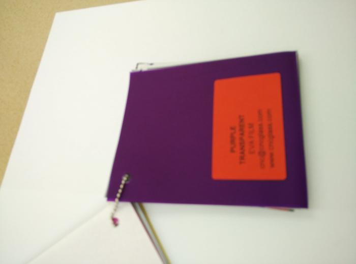 Purple Transparent Ethylene Vinyl Acetate Copolymer EVA interlayer film for laminated glass safety glazing (34)