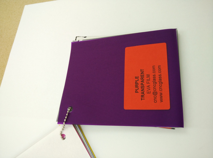 Purple Transparent Ethylene Vinyl Acetate Copolymer EVA interlayer film for laminated glass safety glazing (35)