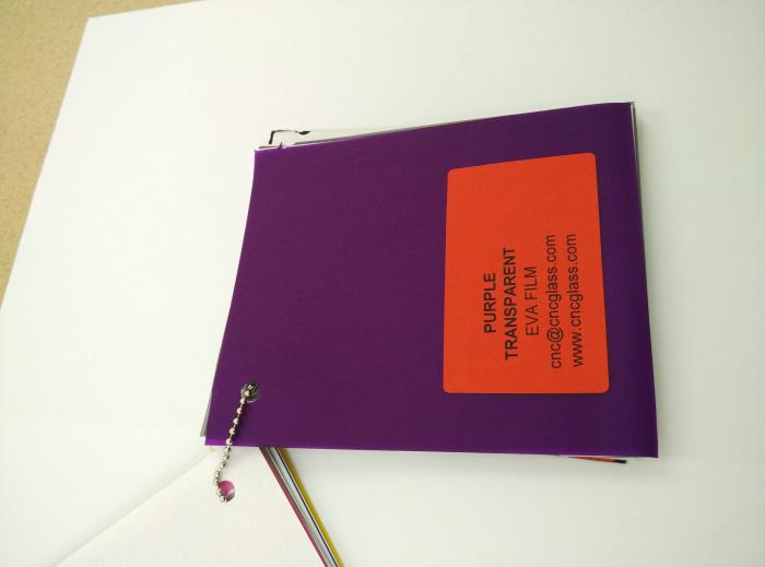 Purple Transparent Ethylene Vinyl Acetate Copolymer EVA interlayer film for laminated glass safety glazing (36)