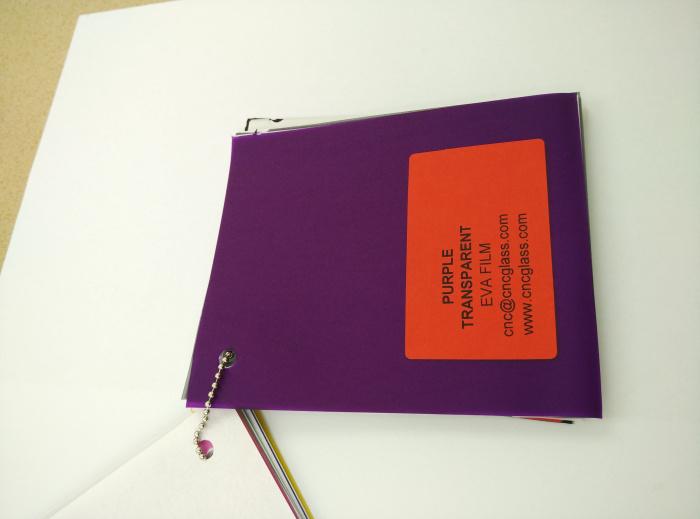 Purple Transparent Ethylene Vinyl Acetate Copolymer EVA interlayer film for laminated glass safety glazing (37)
