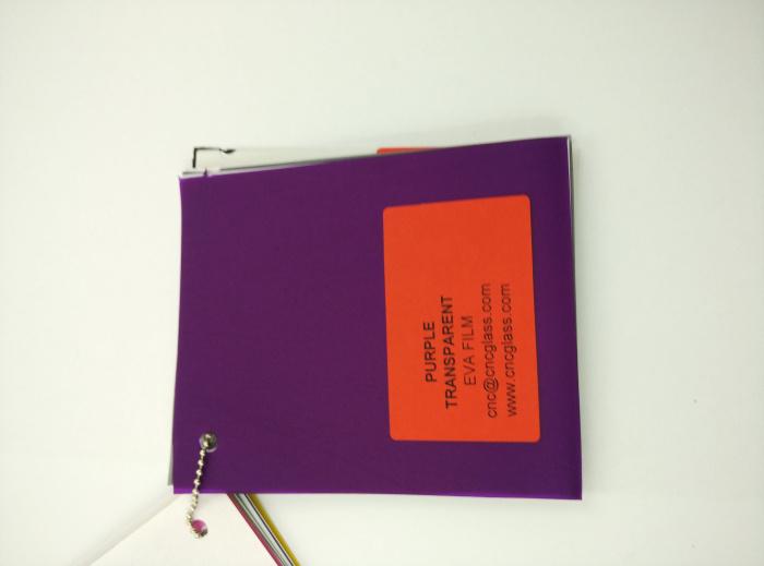 Purple Transparent Ethylene Vinyl Acetate Copolymer EVA interlayer film for laminated glass safety glazing (38)