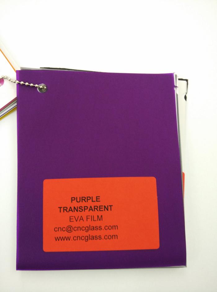 Purple Transparent Ethylene Vinyl Acetate Copolymer EVA interlayer film for laminated glass safety glazing (4)