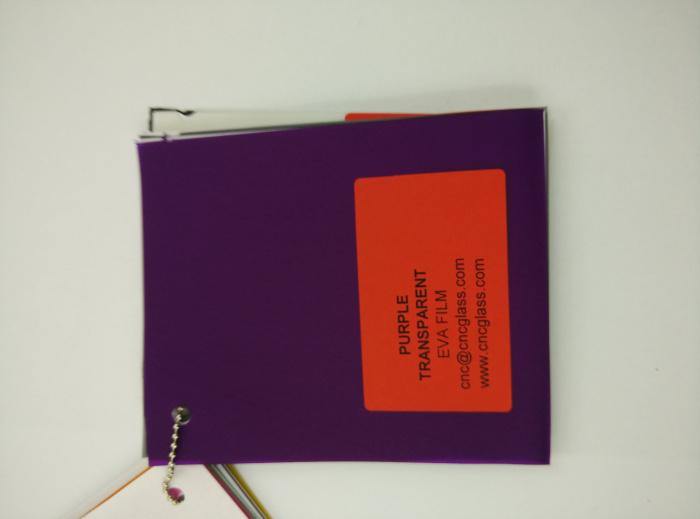 Purple Transparent Ethylene Vinyl Acetate Copolymer EVA interlayer film for laminated glass safety glazing (40)