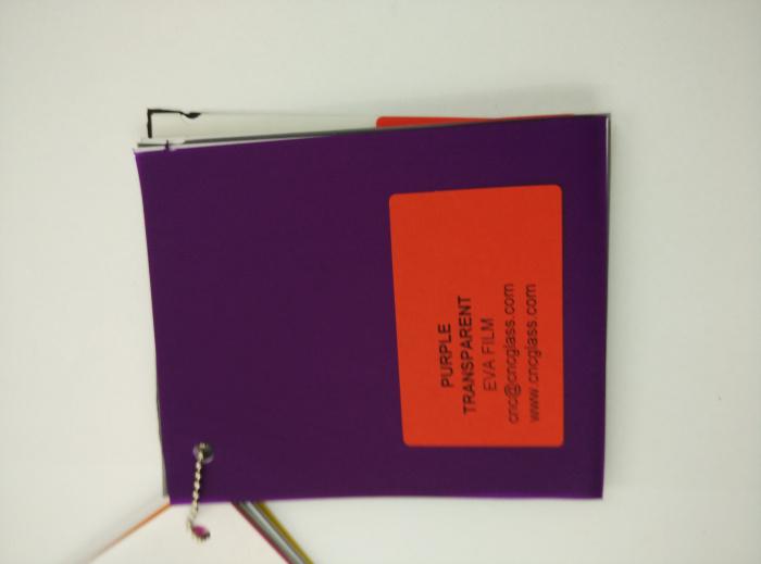 Purple Transparent Ethylene Vinyl Acetate Copolymer EVA interlayer film for laminated glass safety glazing (41)