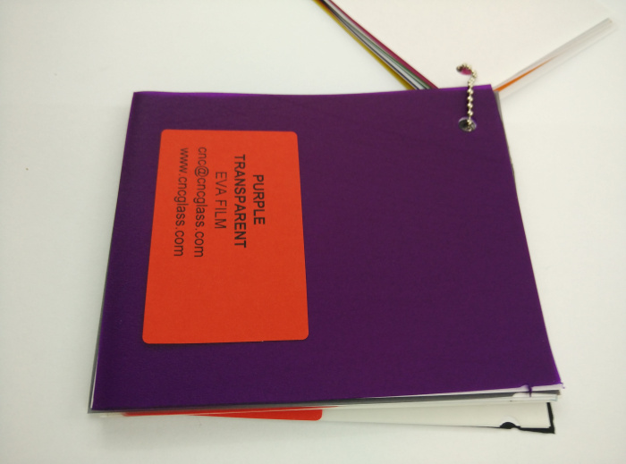 Purple Transparent Ethylene Vinyl Acetate Copolymer EVA interlayer film for laminated glass safety glazing (44)