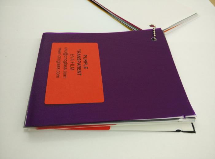 Purple Transparent Ethylene Vinyl Acetate Copolymer EVA interlayer film for laminated glass safety glazing (47)