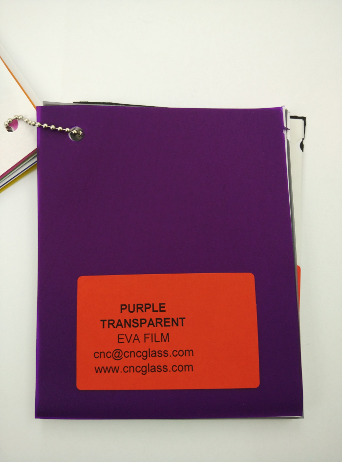 Purple Transparent Ethylene Vinyl Acetate Copolymer EVA interlayer film for laminated glass safety glazing (5)