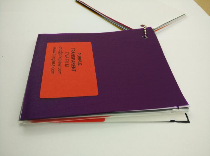 Purple Transparent Ethylene Vinyl Acetate Copolymer EVA interlayer film for laminated glass safety glazing (50)