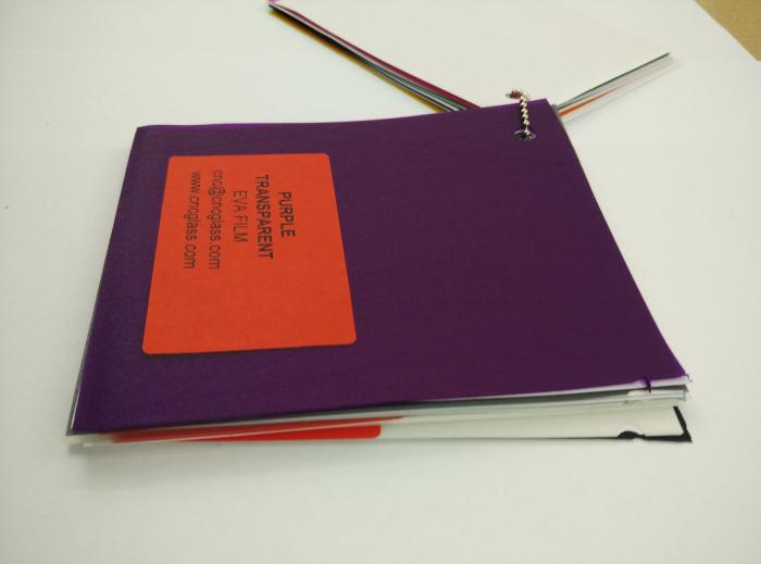 Purple Transparent Ethylene Vinyl Acetate Copolymer EVA interlayer film for laminated glass safety glazing (51)