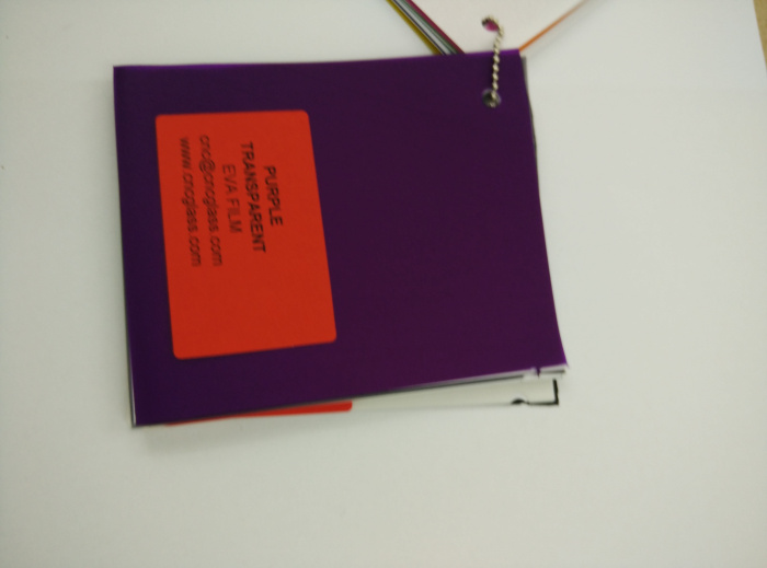Purple Transparent Ethylene Vinyl Acetate Copolymer EVA interlayer film for laminated glass safety glazing (53)