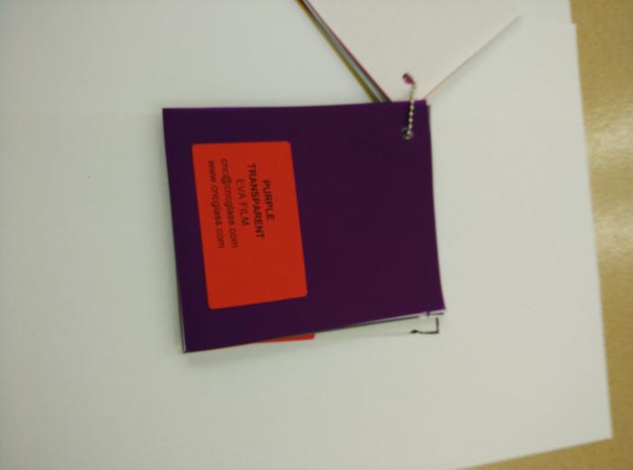 Purple Transparent Ethylene Vinyl Acetate Copolymer EVA interlayer film for laminated glass safety glazing (55)