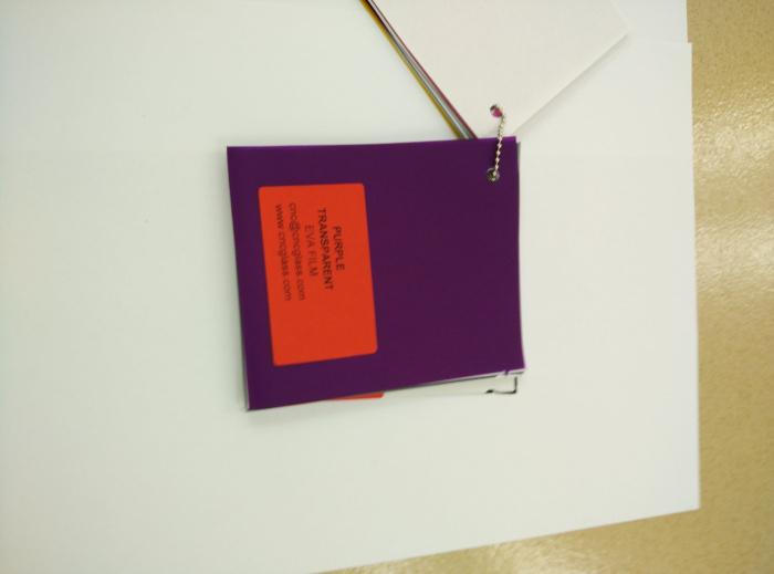 Purple Transparent Ethylene Vinyl Acetate Copolymer EVA interlayer film for laminated glass safety glazing (57)