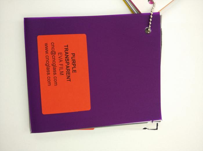 Purple Transparent Ethylene Vinyl Acetate Copolymer EVA interlayer film for laminated glass safety glazing (58)