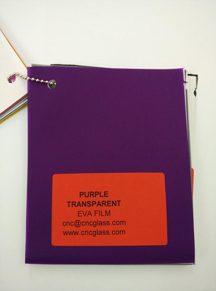 Purple Transparent Ethylene Vinyl Acetate Copolymer EVA interlayer film for laminated glass safety glazing (6)