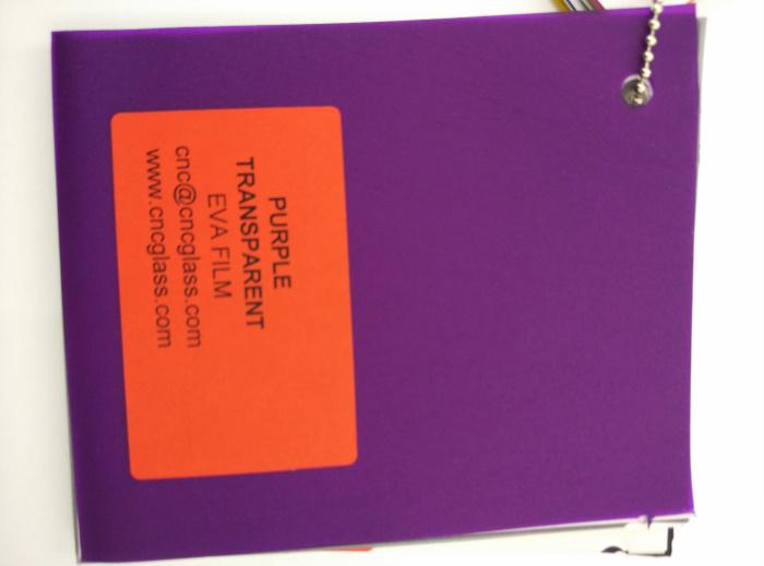 Purple Transparent Ethylene Vinyl Acetate Copolymer EVA interlayer film for laminated glass safety glazing (60)