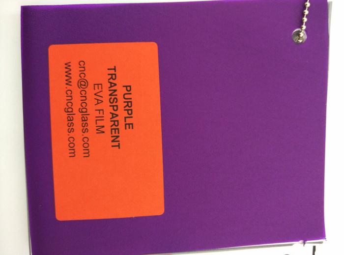 Purple Transparent Ethylene Vinyl Acetate Copolymer EVA interlayer film for laminated glass safety glazing (61)